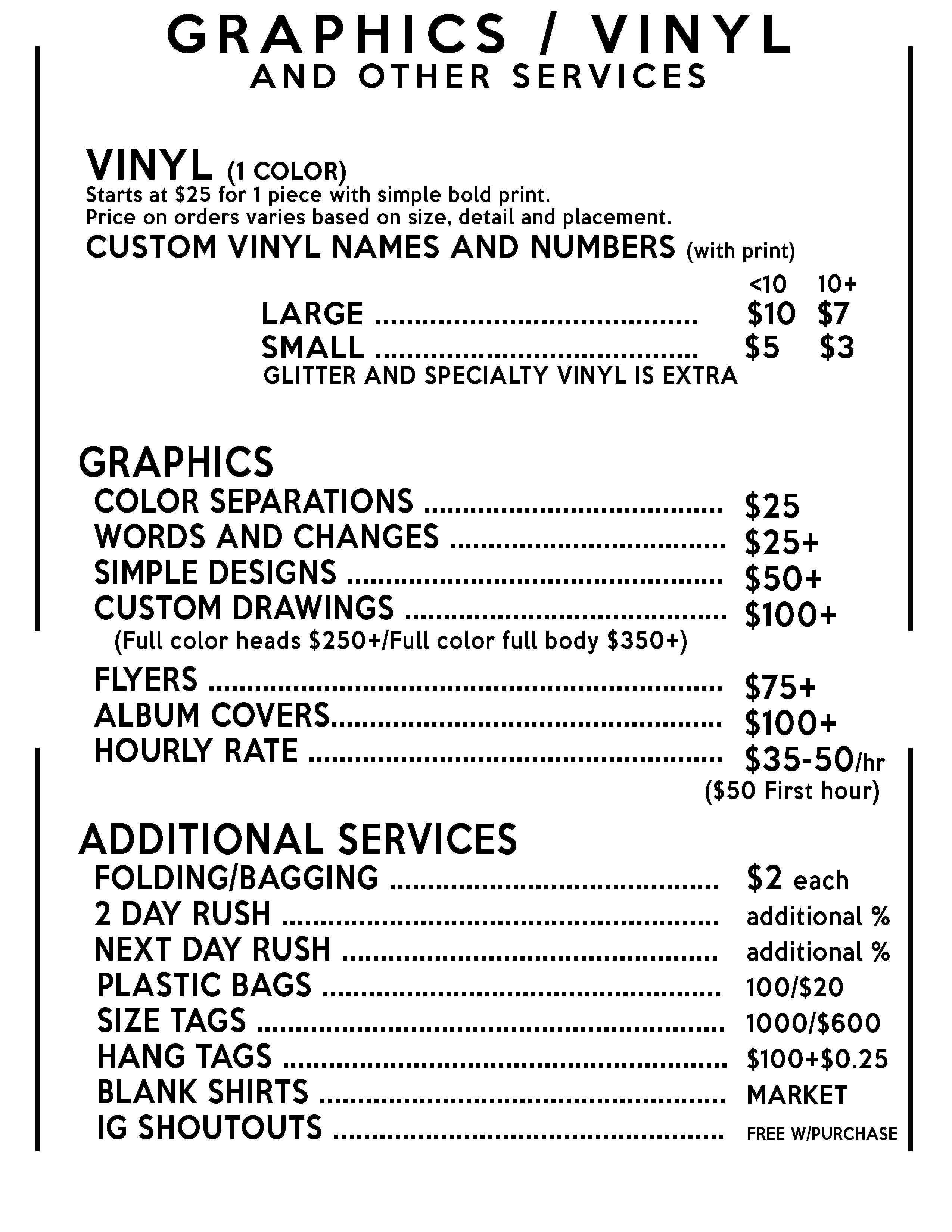 Pricing Creative Clothing